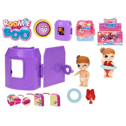 Roomie Boo Surprise 7druhov bábika + šaty s doplnkami v domčeku, H140908