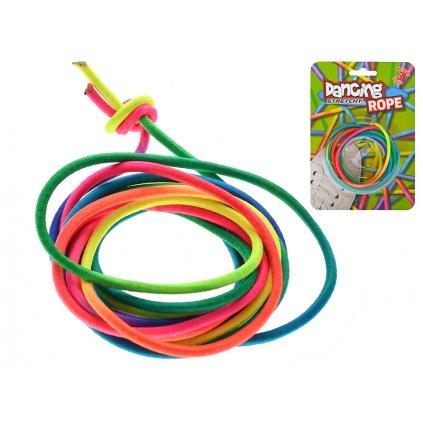 Pružné lano 300cm dúhové na karte