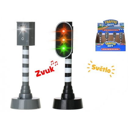 Semafor/rýchlostný radar 15cm na batérie so svetlom a zvukom