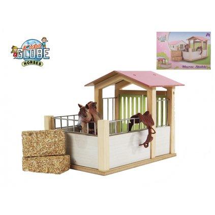 Stajňa pre kone drevená 20x14x16cm v krabičke, H1610206
