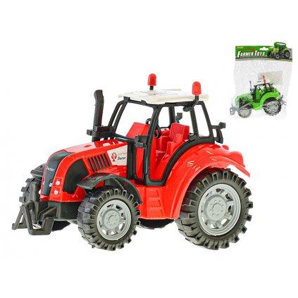 Traktor 15cm na zotrvačník 2farby v sáčku