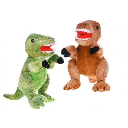 Dinosaurus plyšový 25cm stojaci 2farby 0m+