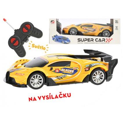 R/C auto závodné 19cm 1:20 plná funkcia na batérie so svetlom 27MHz v krabičke