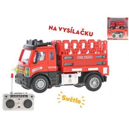 R/C auto hasičské s plošinou 12cm 1:64 plná funkcia na batérie so svetlom 27MHz v krabičke