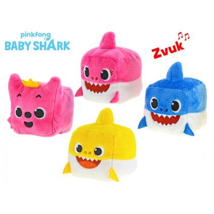 Baby Shark kocka plyšová 7cm na batérie so zvukom 4druhy 12m+ v sáčku