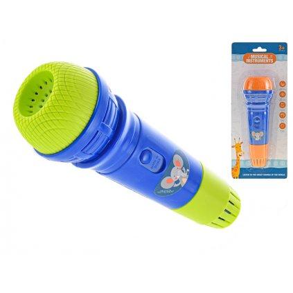 Mikrofón 18cm 2farby na karte
