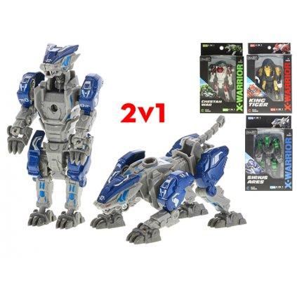 Robot/zviera 2v1 9cm kov 4farby v krabičke