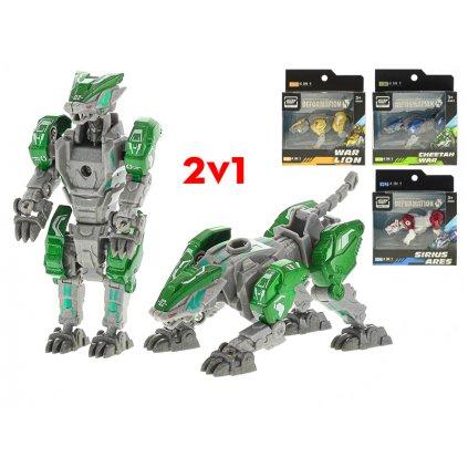 Robot/zviera 2v1 8cm kov 4farby v krabičke