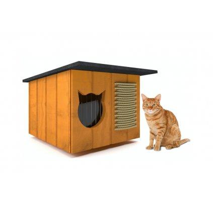 domcek pre macky prirodny