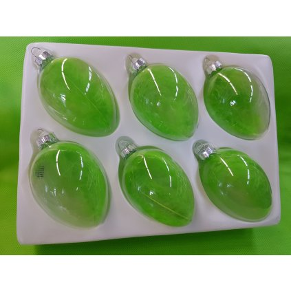 Sklene vajicka sada 6ks zelena YQO5307 6