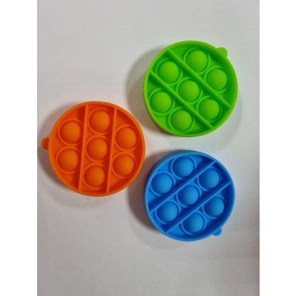Antistresová hračka  POP IT kruh prívesok 6,5cm