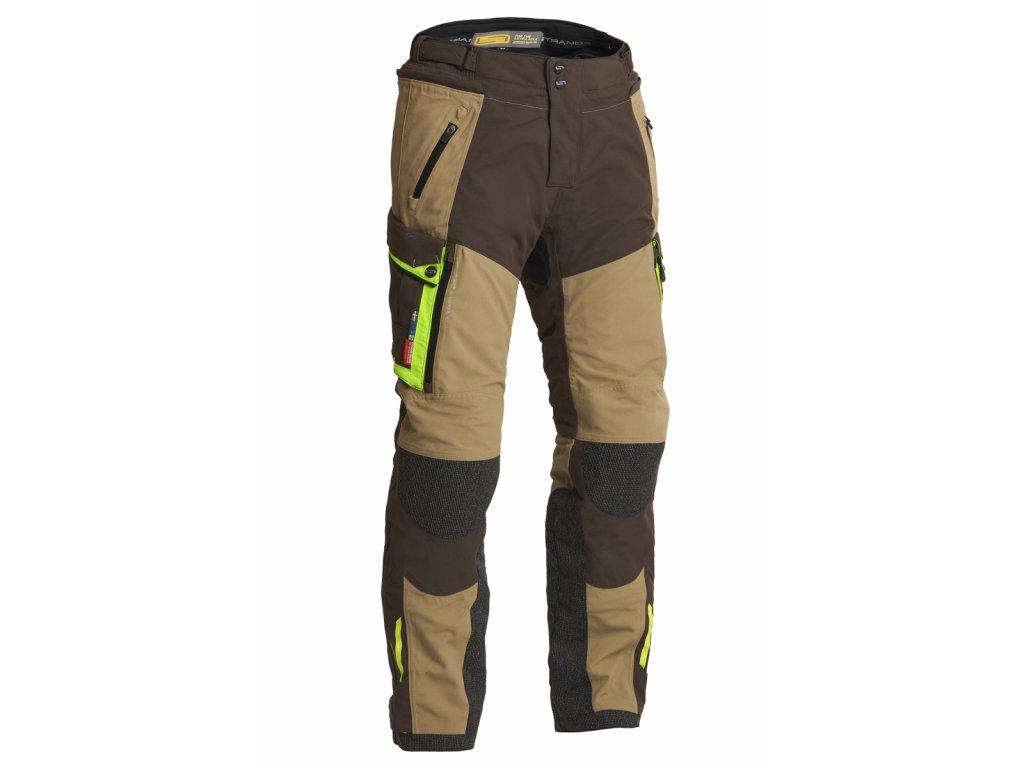 Textilní kalhoty Lindstrands Sunne Brown / yellow