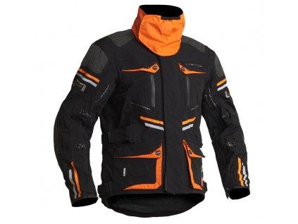 Textilní bunda Lindstrands Sunne černá / oranžová