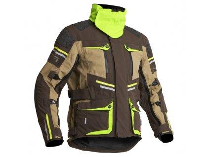 Lindstrands Textile Jacket Sunne Brown/yellow