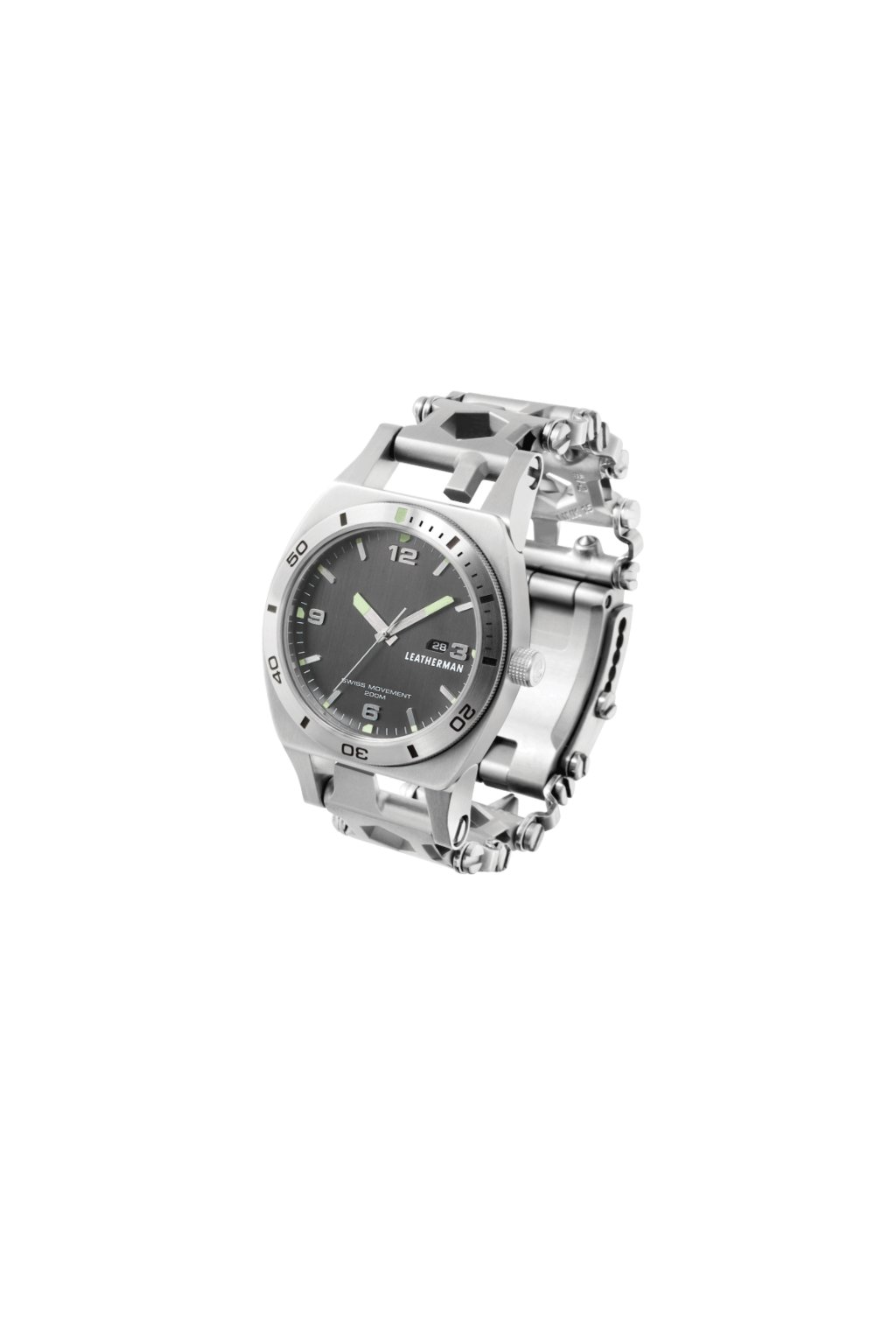 1484 hodinky s multifunkcnimi nastroji tread tempo silver