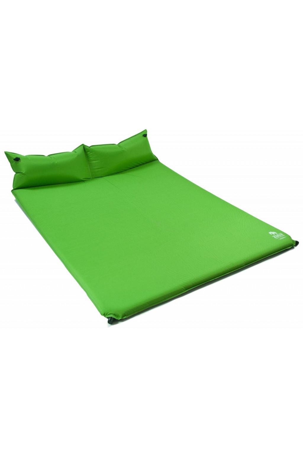 85131396 samonafukovaci karimatka zulu dreamtime 5 double pillow zelena