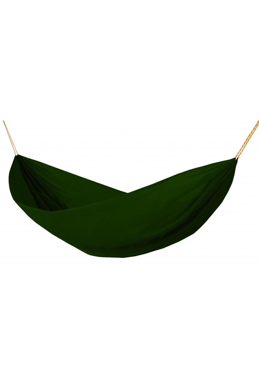 Houpací síť Hamaka originál pro jednoho zeleno-olivovo-zelená
