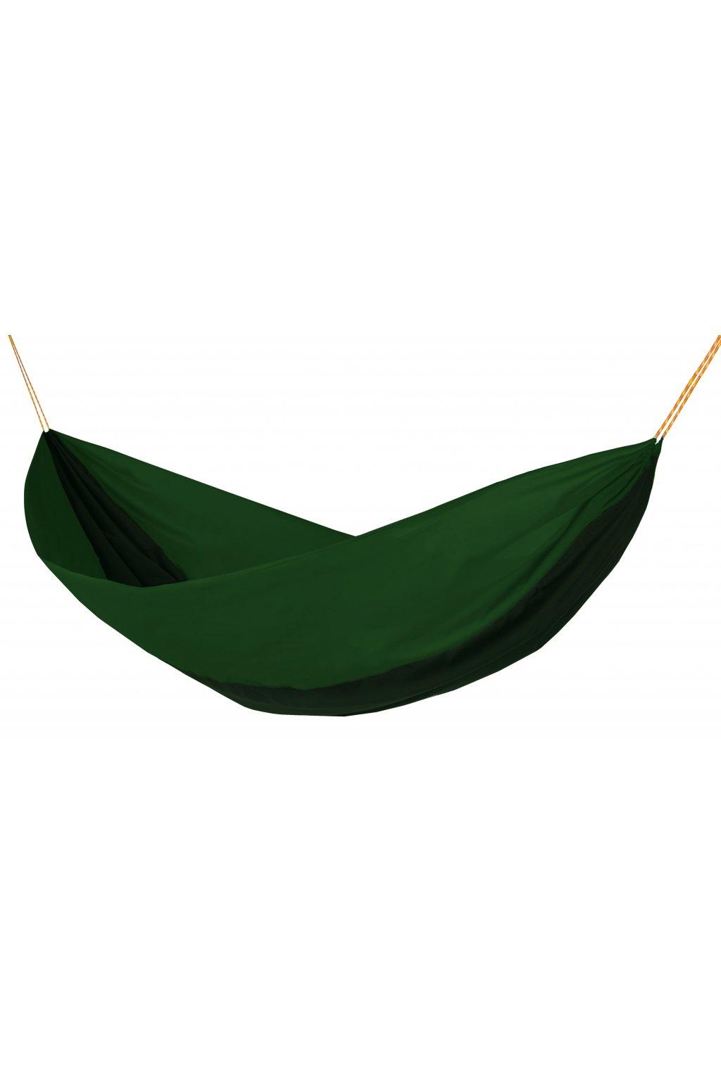 Houpací síť Hamaka originál pro dva zeleno-olivovo-zelená