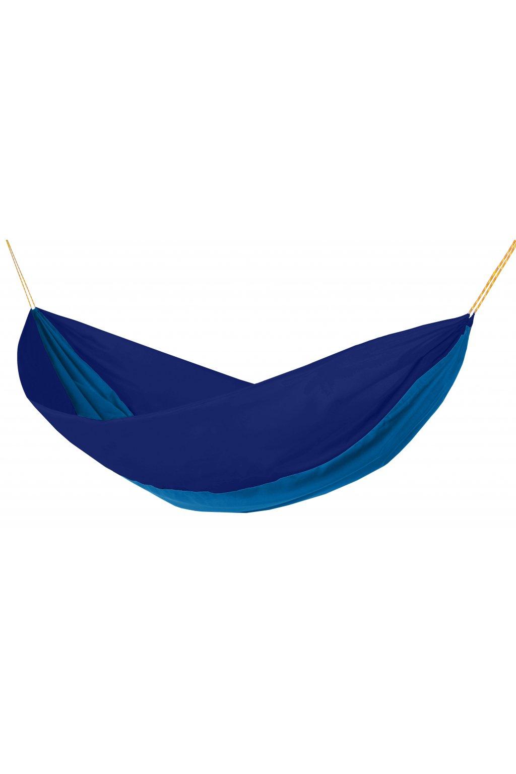 Houpací síť Hamaka originál pro jednoho modro-azurovo-modrá