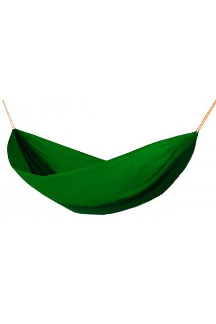 Houpací síť Hamaka originál pro dva brčálovo - zeleno - brčálová