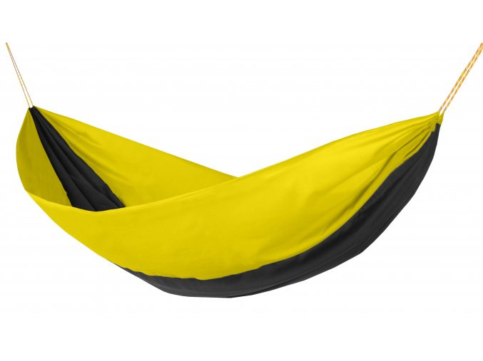 Houpací síť Hamaka žluto-černo-žlutá