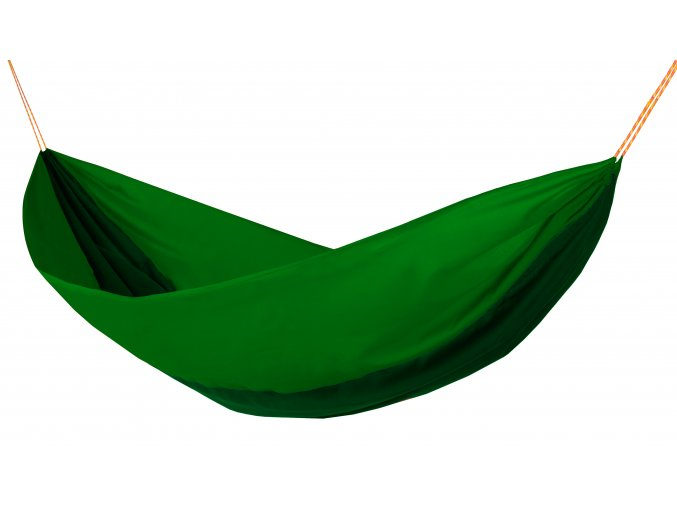 Houpací síť Hamaka double brčálovo - zeleno - brčálová