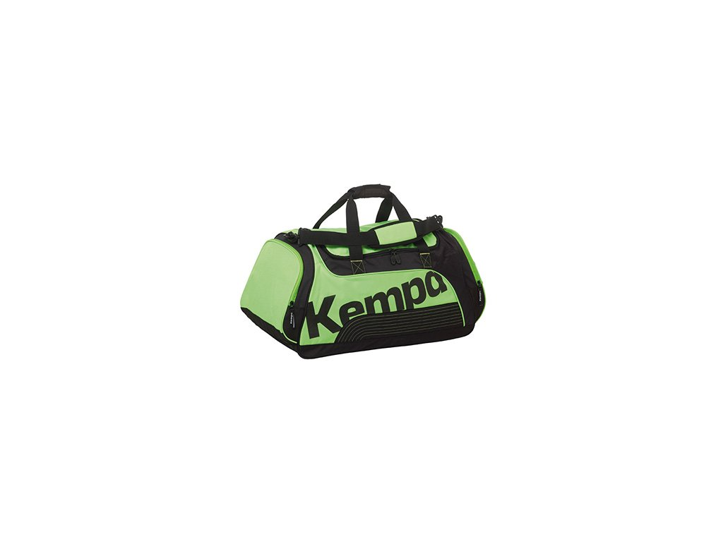 Kempa sportovní taška SPORTLINE - M  černá světle zelená