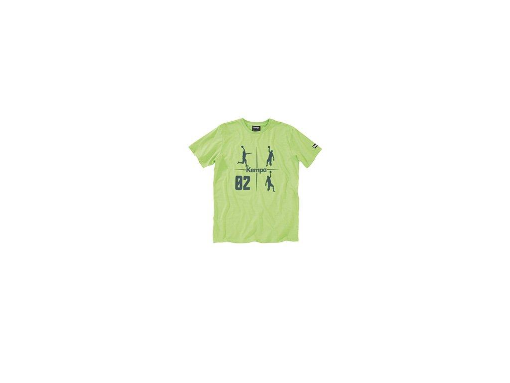 Kempa tričko CROSS - světle zelené