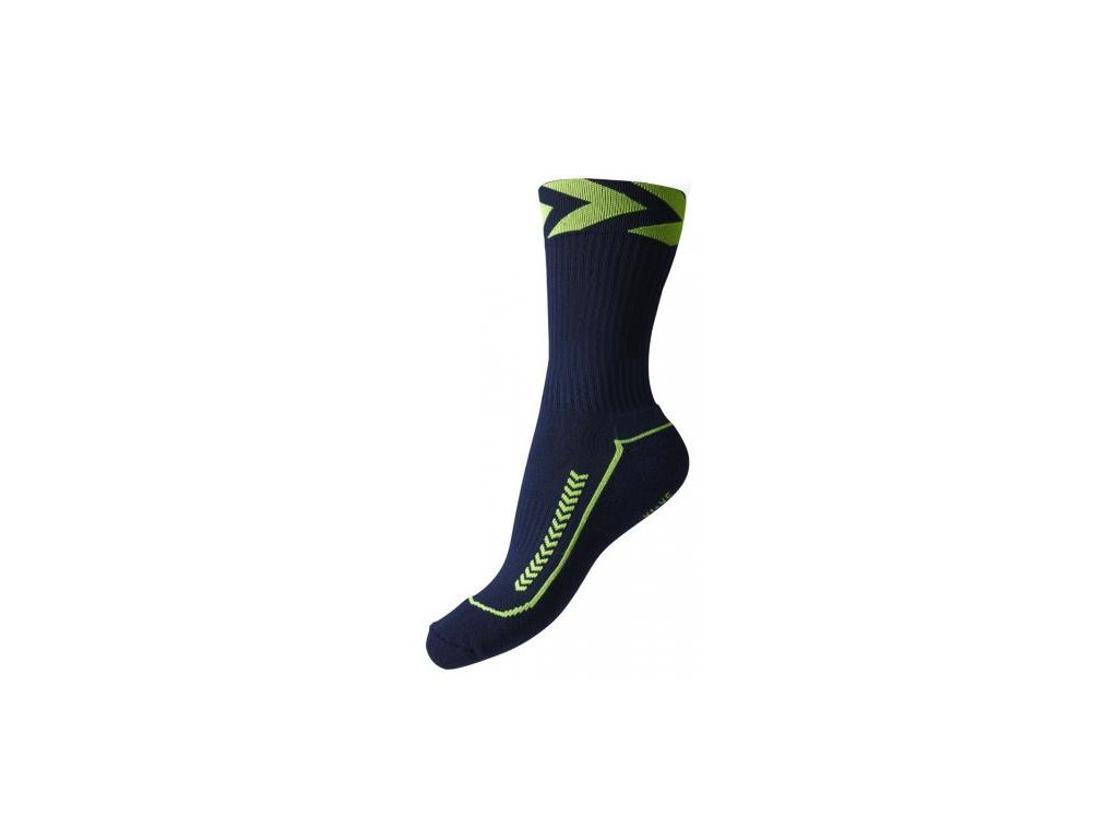 Hummel Chevron halové ponožky nízké - modrá legio/zelená