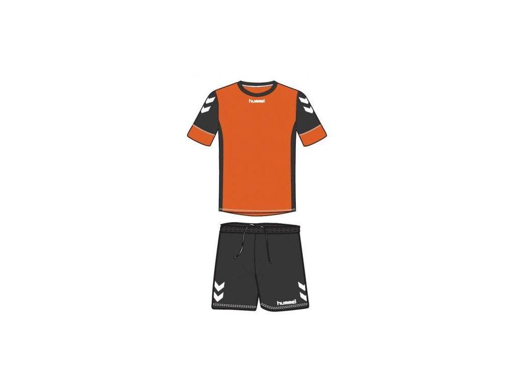 Hummel dres Spirit SMU tréninkový set - oranžová/černá