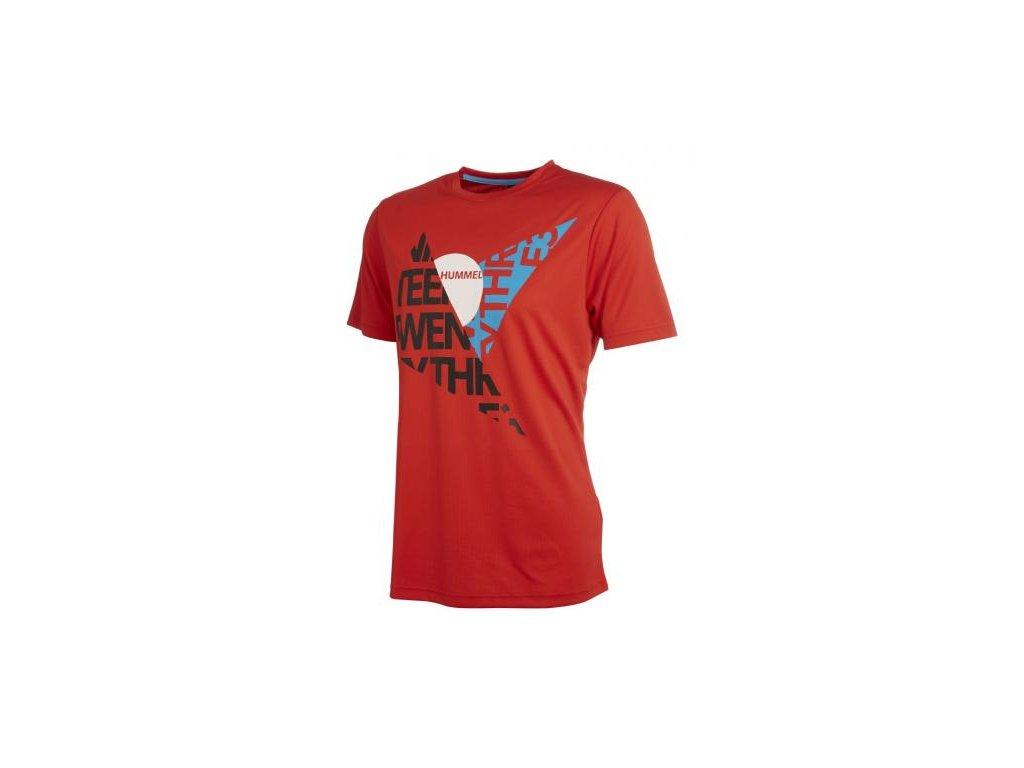 Hummel tričko DURHAM - červené