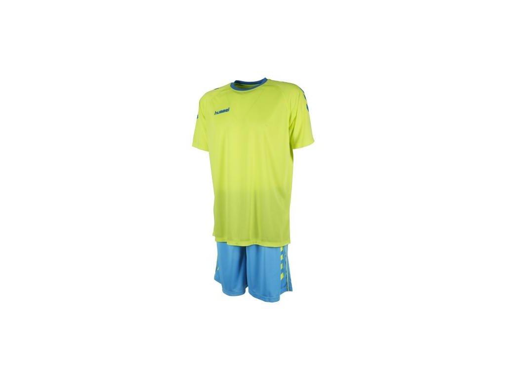 Hummel tréninkový set ESSENTIAL - světle zelená/modrá