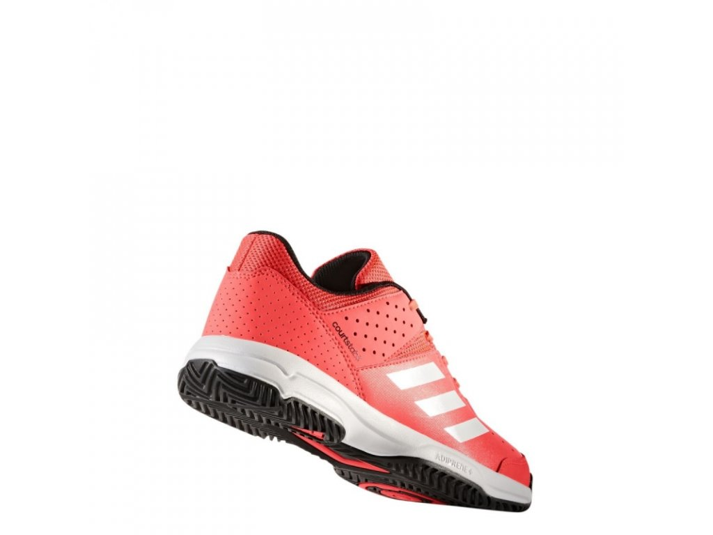 80007023125 Juniorské boty Adidas Performance Court Stabil JR - červené ...