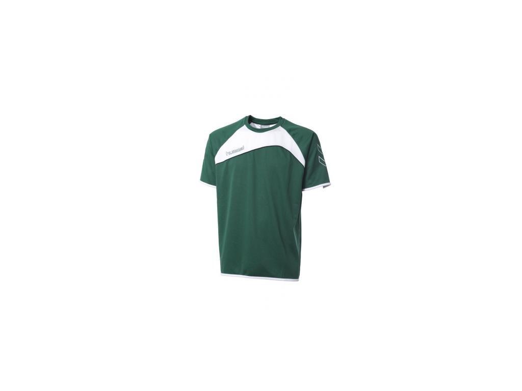 Hummel Grassroots dres s krátkým rukávem - zelená/bílá