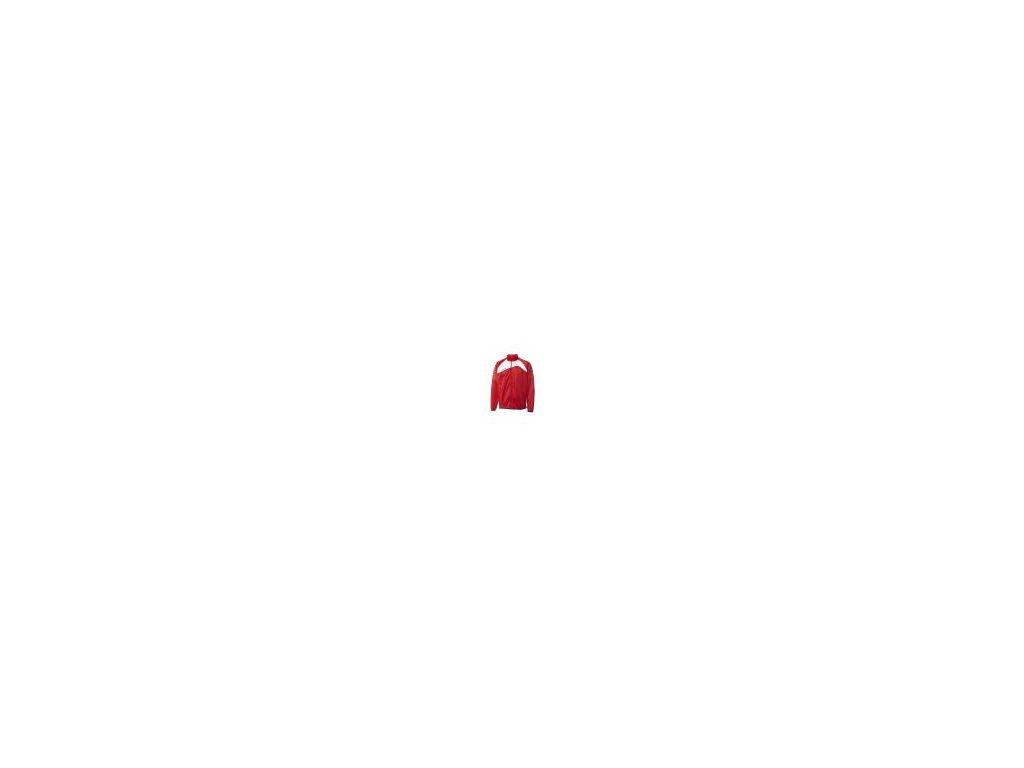 Hummel Grassroots bunda na zip z polyesteru - červená/bílá