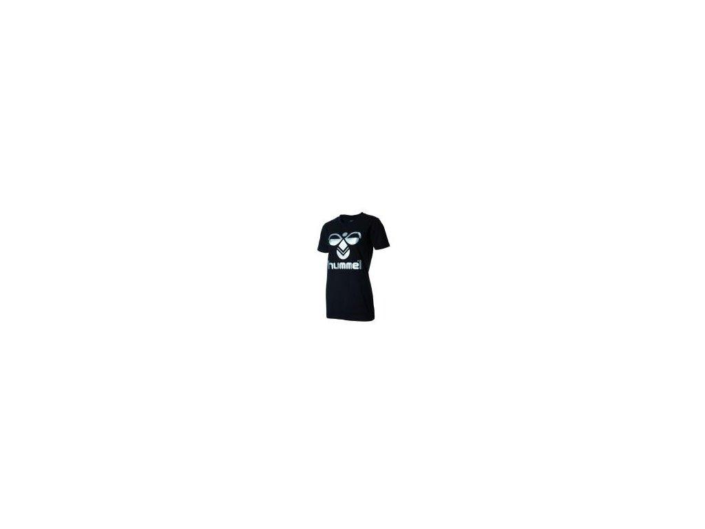 Hummel Classic Bee dámské bavlněné tričko - černá/stříbrná