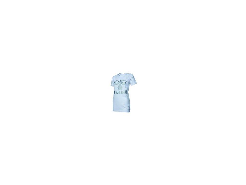 Hummel Classic Bee dámské bavlněné tričko - bílá/stříbrná