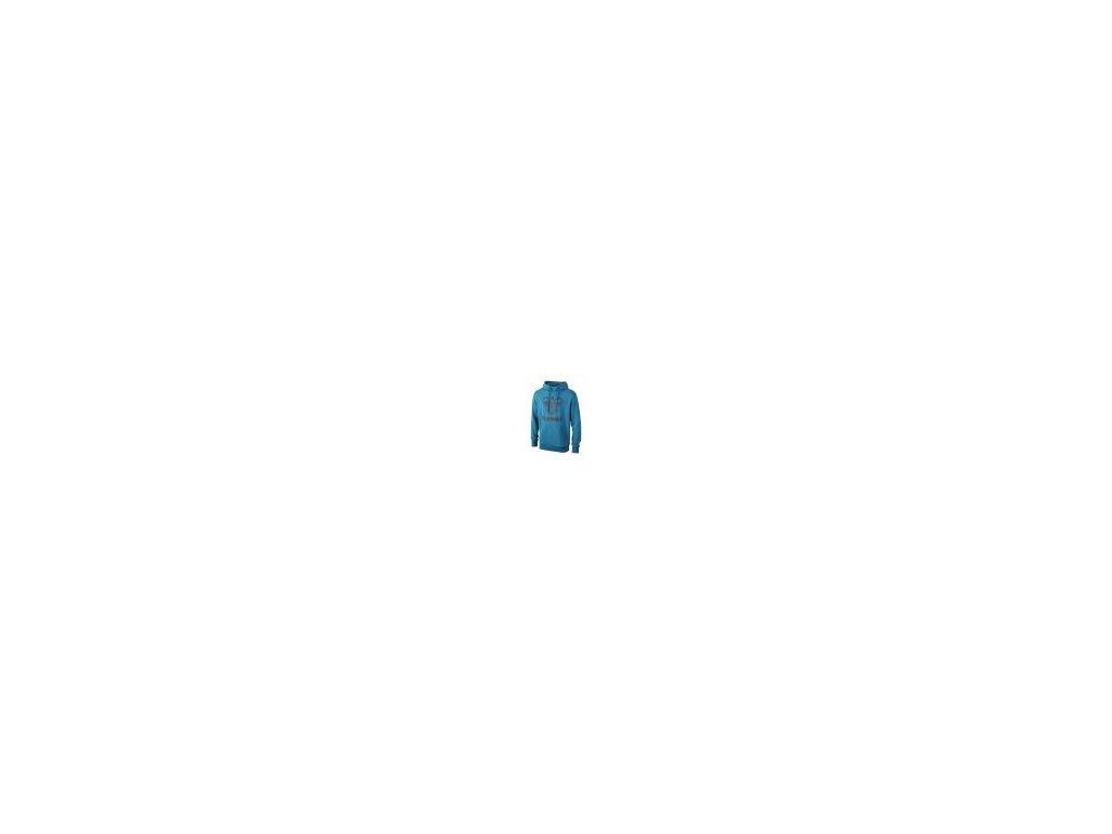 Hummel Classic Bee mikina s kapucí - oriental modrá/kovová