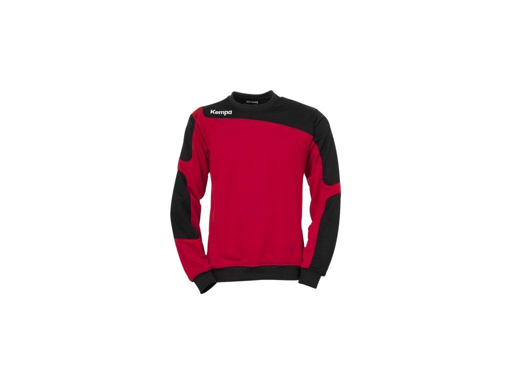 Kempa mikina Tribute - červená/černá