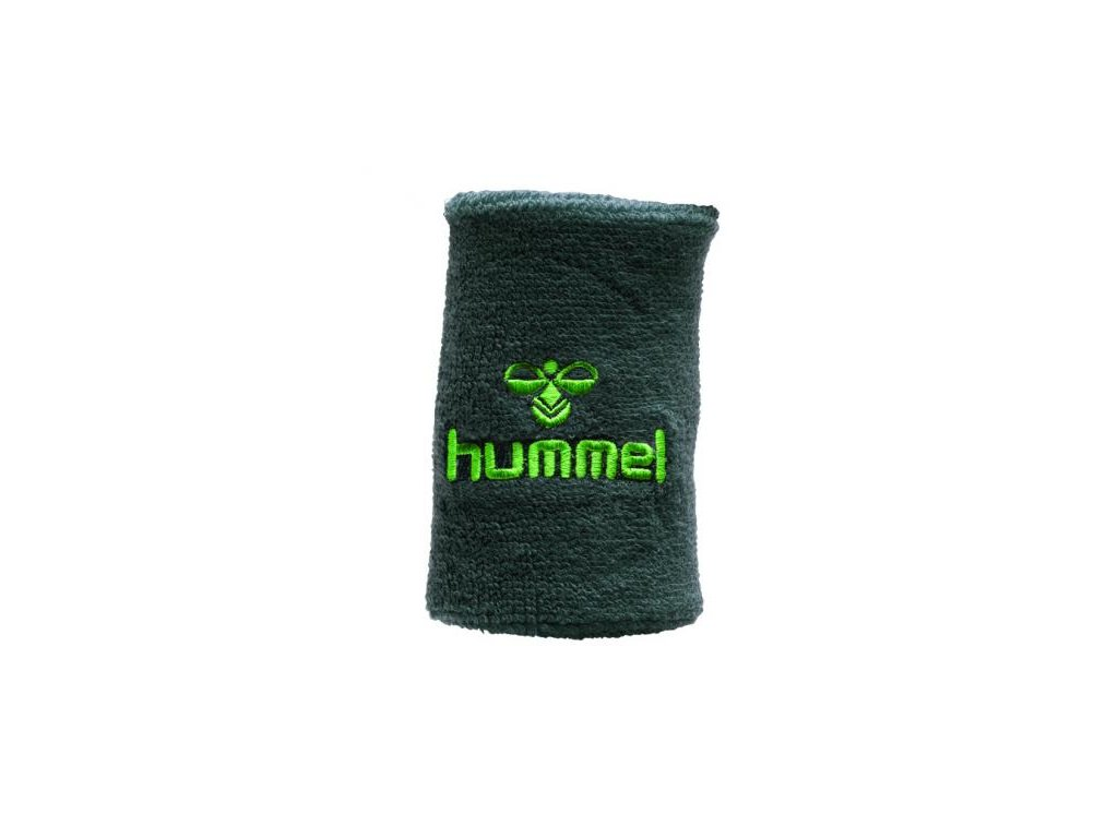 Hummel potítko Old School velké - tmavě šedá/lime zelená