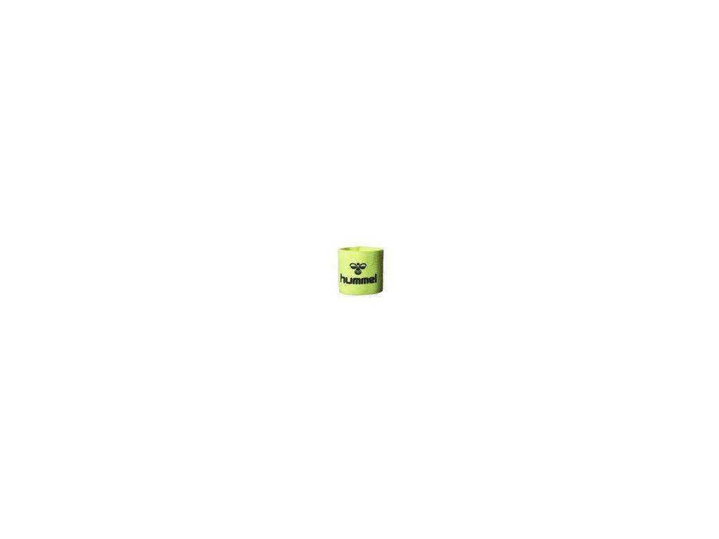 Hummel kapitánská páska Old School - neon zelená/černá