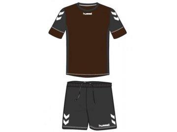 Hummel dres Spirit SMU tréninkový set - hnědá/černá