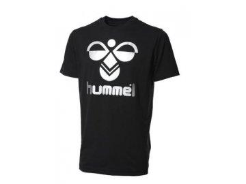 Hummel Classic Bee bavlněné tričko - černá/stříbrná