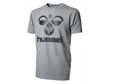 Hummel Classic Bee bavlněné tričko - šedá melange/černá