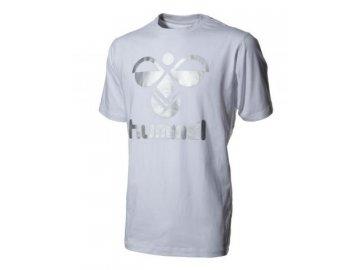 Hummel Classic Bee bavlněné tričko - bílá/stříbrná
