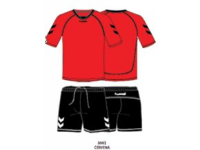Hummel tréninkový set TEAM - červená/černá