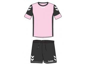 Hummel dres Spirit SMU tréninkový set - růžová/černá