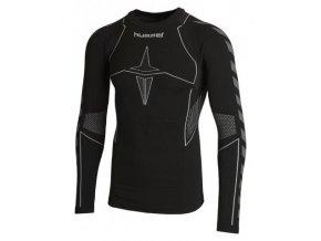 Hummel HERO Baselayer pánské tričko dlouhý rukáv - černé