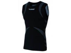 Hummel Base Layer tričko bez rukávů - černá/antracitová