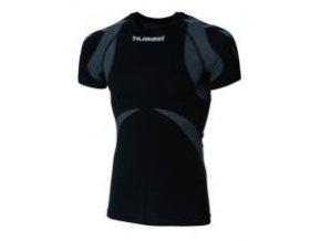 Hummel Base Layer tričko s krátkým rukávem - černá/antracitová
